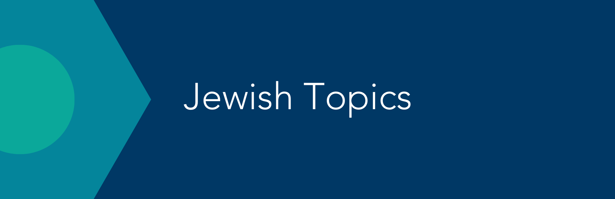 Jewish Topics Button